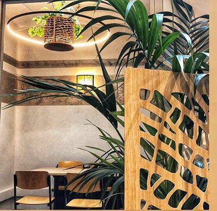 Une salle de réunion atypique et végétalisée pour vos entretiens, vos séances de travail en équipe ou rencontrer vos clients dans un lieu inspirant.